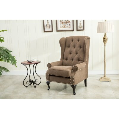 Wingback Chair Upholstery: Chocolate
