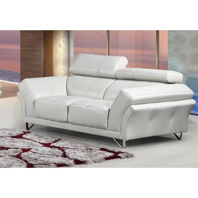 Leather Sofa Upholstery: Gray