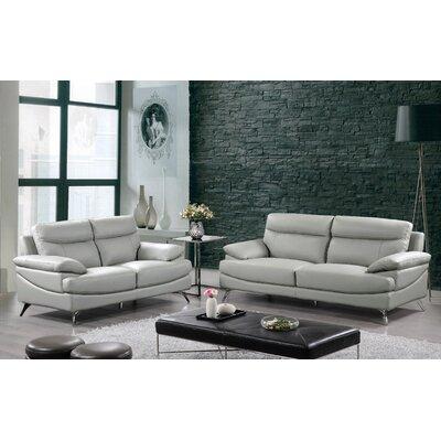 Sofa and Loveseat Set Finish: Light Gray