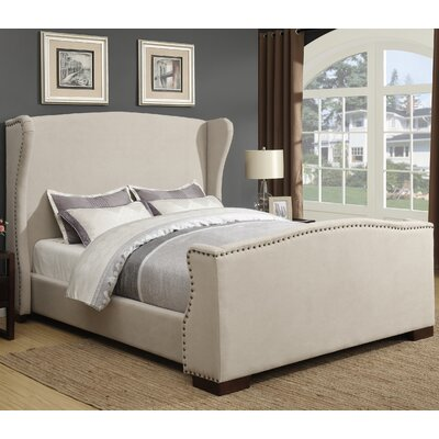 Wingback Upholstered Panel Bed Size: Eastern King