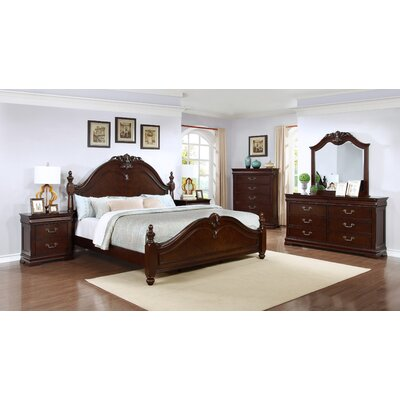 Panel 4 Piece Bedroom Set Size: California King
