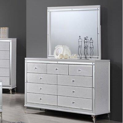9 Drawer Dresser with Mirror