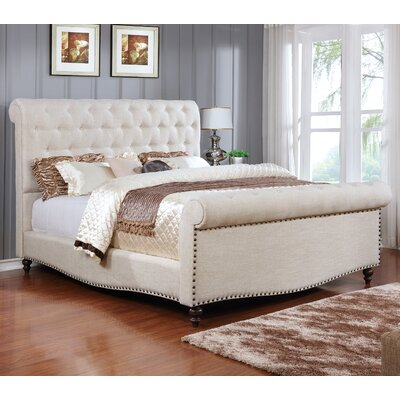 Upholstered Sleigh Bed Size: California King