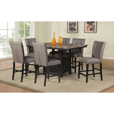 Thole 7 Piece Counter Height Dining Set