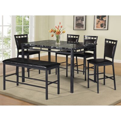 6 Piece Counter Height Dining Set D1956Pc