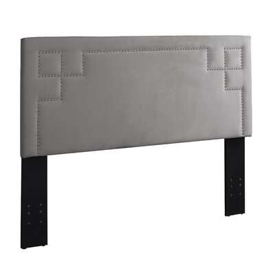 Queen/Full Upholstered Panel Headboard Upholstery: Gray