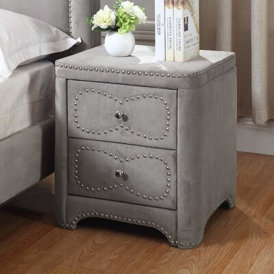 2 Drawer Nightstand Color: Gray