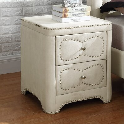2 Drawer Nightstand Color: Beige