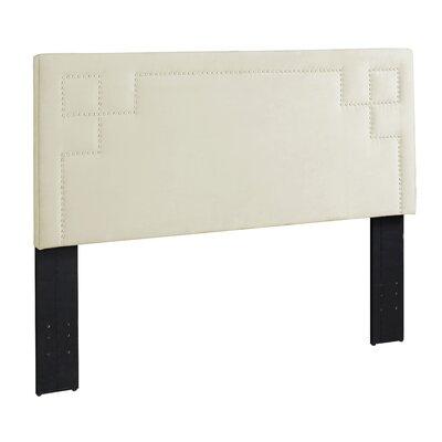 Queen/Full Upholstered Panel Headboard Upholstery: Beige