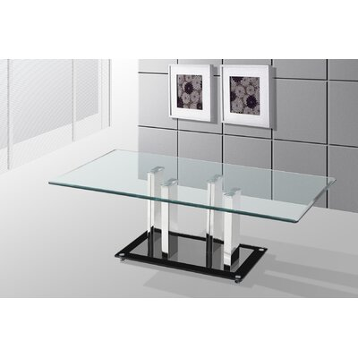 Alise Glass Top Coffee Table