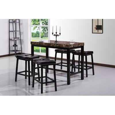 Manteno 5 Piece Pub Table Set