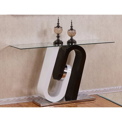 Brook Glass Top Console Table