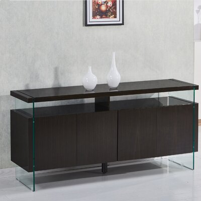 Kieth 4 Door Credenza Finish: Cappuccino