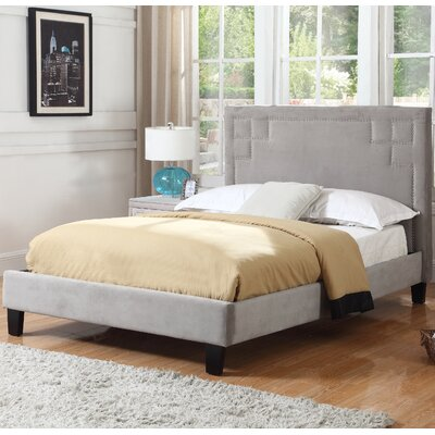 Halina Upholstered Platform Bed Size: Queen, Upholstery: Gray