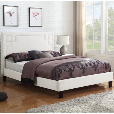 Essex Upholstered Platform Bed Size: Full, Color: Gray