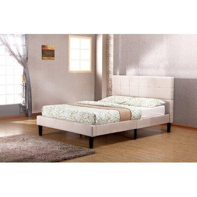 Biscoe Upholstered Platform Bed Size: Full, Upholstery: Beige