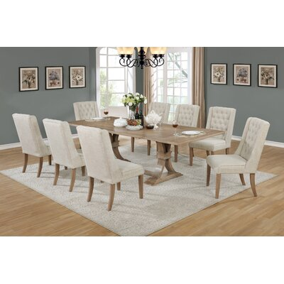 Gracie Oaks Denville 9 Piece Dining Set