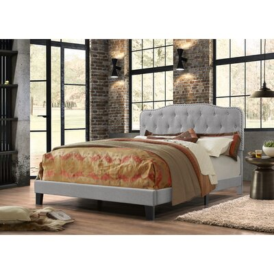 Summerhill Upholstered Panel Bed Size: Full, Upholstery: Smoke Gray