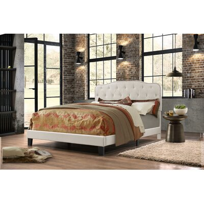 Summerhill Upholstered Panel Bed Size: Full, Upholstery: Fog Beige