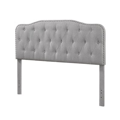 Stuyvesant Twin Upholstered Panel Headboard Upholstery: Smoke Gray