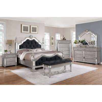Nicolasa Upholstered Panel Bed Size: King