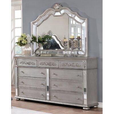 Nicolasa 9 Drawer Dresser with Mirror