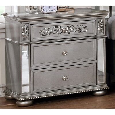 Nicolasa 3 Drawer Nightstand