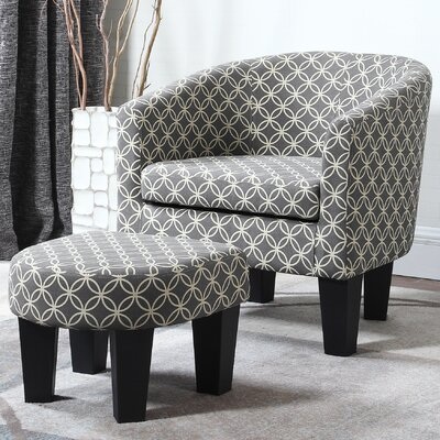 Wharton Barrel Chair and Ottoman
