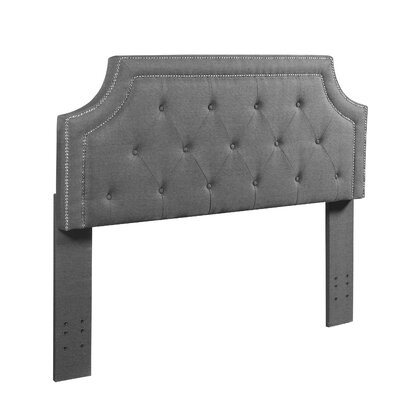 Kolmont Modern Full/Queen Upholstered Panel Headboard Upholstery: Gray