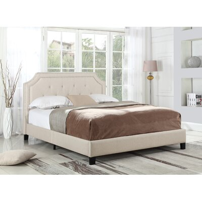 Klerken Upholstered Platform Bed Size: Full, Color: Beige