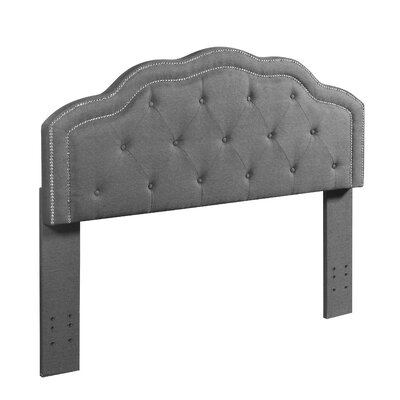 Kolmont Full/Queen Upholstered Panel Headboard Upholstery: Gray