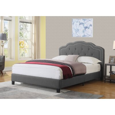 Gedan Upholstered Platform Bed Size: Queen, Color: Gray