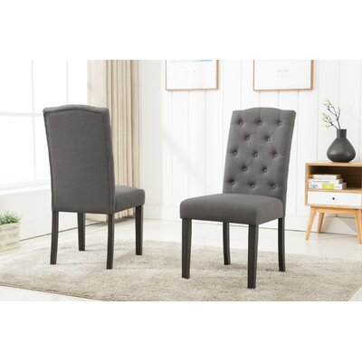 Cendrillon Upholstered Dining Chair Upholstery Color: Gray