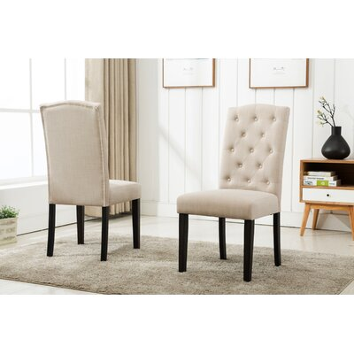Cendrillon Upholstered Dining Chair Upholstery Color: Beige