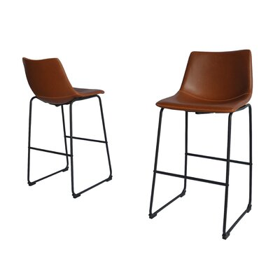 Hailley 29 Bar Stool Color: Bronze
