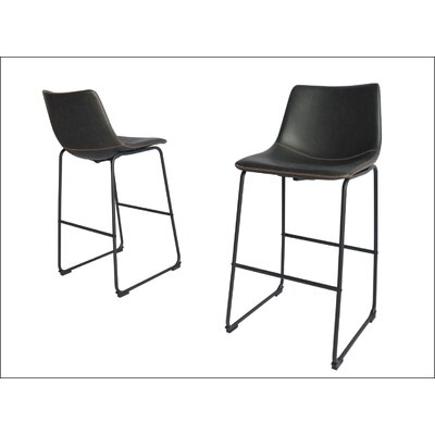 Hailley 29 Bar Stool Color: Charcoal