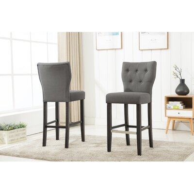 Fontayne 29 Bar Stool Upholstery: Gray
