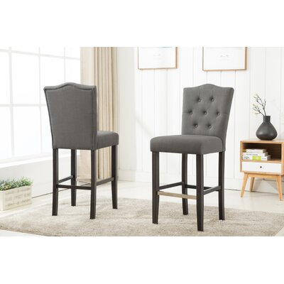 Fonteyne 29 Bar Stool Upholstery: Gray