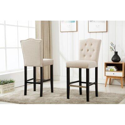 Fonteyne 29 Bar Stool Upholstery: Beige