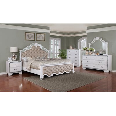 Laraine Panel Configurable 5 Piece Bedroom Set Bed Size: California King