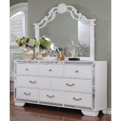 Bilboro 8 Drawer Dresser with Mirror
