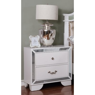 Bilboro 2 Drawer Nightstand