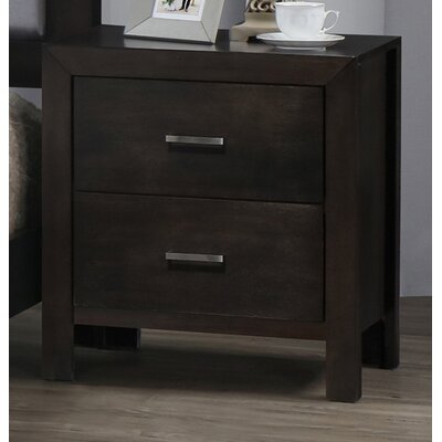 Vanderburg 2 Drawer Nightstand