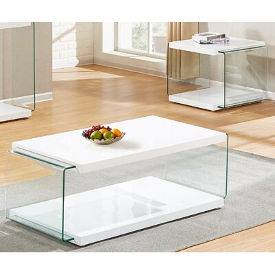 Grose 2 Piece Coffee Table Set Color: White