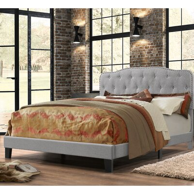 Summerhill Upholstered Panel Bed Size: Full, Color: Smoke Gray