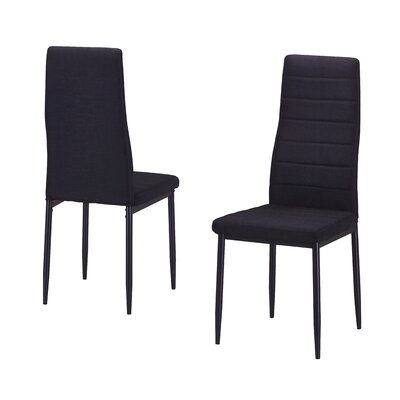 Nuss Upholstered Dining Chair Upholstery Color: Black