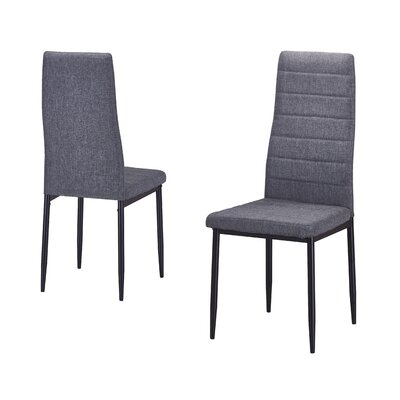 Nuss Upholstered Dining Chair Upholstery Color: Gray