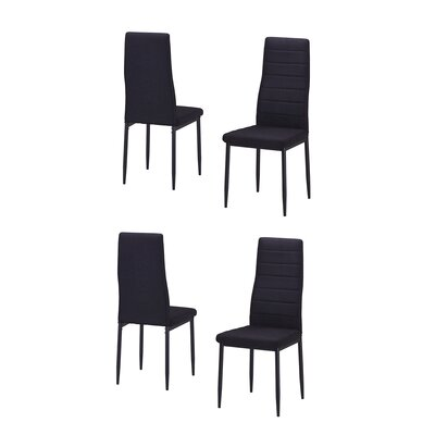 Nuttall Upholstered Dining Chair Upholstery Color: Black
