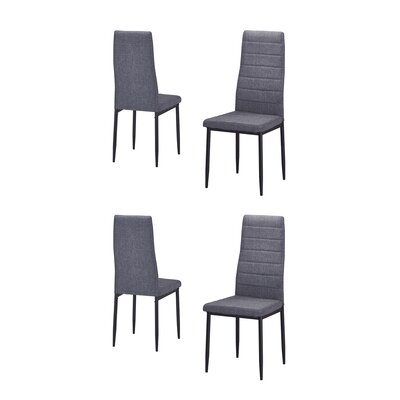 Nuttall Upholstered Dining Chair Upholstery Color: Gray