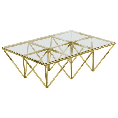 Kroger Coffee Table Color: Gold